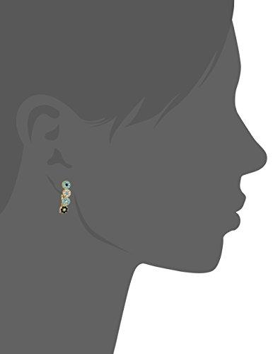 IAM by Ileana Makri Boucles d'Oreilles Argent 925/1000 Ronde Zircon cubique Turquoise Femme