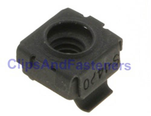 50 Cage Nuts 1/4-20 Thread 3/8'' Hole Size