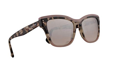 Valentino VA 4036 Sunglasses Pink Ice Havana w/Light Brown Mirror Gradient Lens 54mm 50948Z VA4036S VA4036/S ()