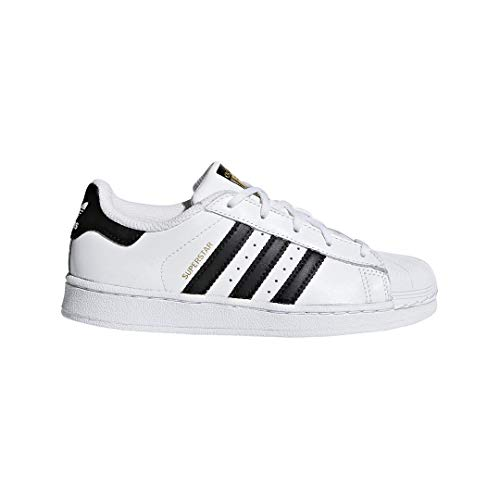 adidas Kids' Superstar Foundation EL C Sneaker, White/Black/White, 11.5 M US Little Kid ()