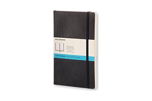 Moleskine Classic Notebook, Large, Dotted, Black, Soft Cover (5 x 8.25) by Moleskine