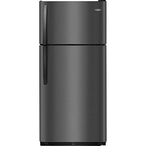 Frigidaire FFTR1821TD 30 Inch Freestanding Top Freezer Refrigerator with 18 cu. ft. Total Capacity in Black Stainless Steel