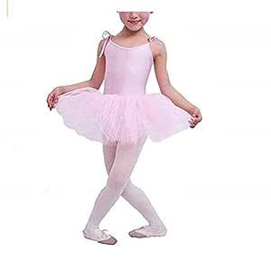 EVRYLON Tutú de Ballet Blanco y Rosa para niña con Tirantes ...