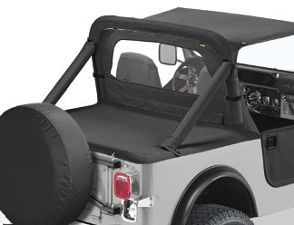 (BesTop 90002-15 Jeep Wrangler Duster Deck Cover - YJ - In Black Denim)