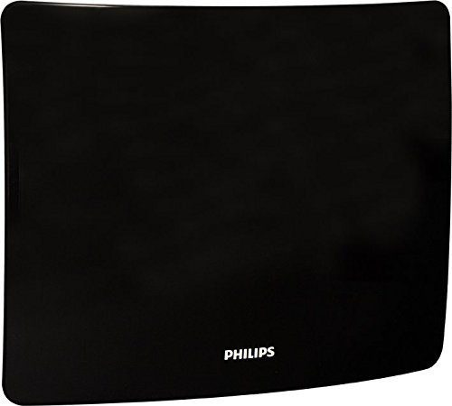 Philips Amplified TV Antenna, 50 Mile Range, Curved, Wall Mo