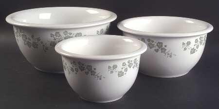 Corelle Coordinates Callaway Ivy 3 Piece Stoneware Mixing Bowl Set
