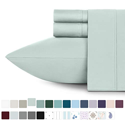 California Design Den 400 Thread Count 100% Cotton Sheet Set, Mod Spa Twin Sheets 3 Piece Set, Long-Staple Combed Pure Natural Cotton Bedsheets, Soft & Silky Sateen Weave