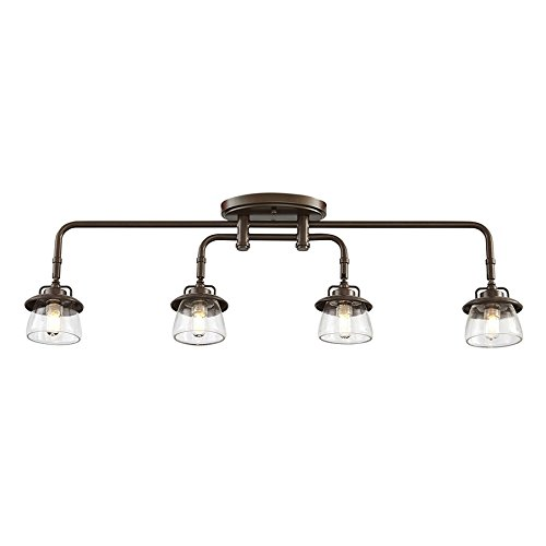 allen + roth Bristow 4-Light 31.97-in Specialty Bronze Dimmable Fixed Track Light - Bristow And Roth Allen