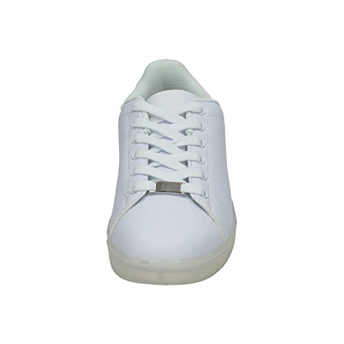 DEMAX 7-P7900A1-12 ZAPATILLAS LUCES LED MUJER BLANCO