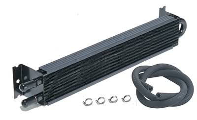 Derale 13220: Fluid Cooler, Transmission, Tube and Fin, Aluminum/Copper, Black, 1 1/2 in. x 17 in. x 1 1/2 in., Each