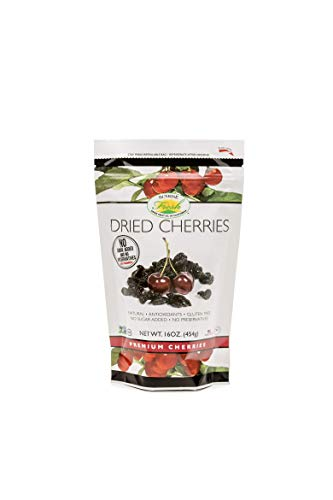 - Sunrise Fresh Dried Fruit Company No Sugar Added Dried Dark Sweet Cherries, 16 oz. Bag
