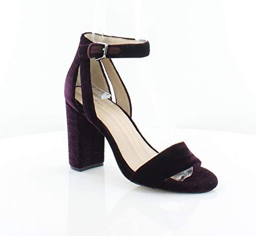 botkier Womens Gianna Velvet Open Toe Block Heels Purple 7 Medium (B,M)