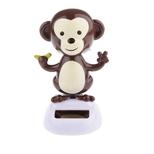 Monkey Nodding - Gelaiken Car Dashboard Solar Nodding Dolls Dancing Toy Xmas Shaking Solar Bobble Head Dolls Doll- Monkey