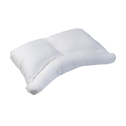HealthSmart Side Sleeper Pillow with Curved Center Lobe, Relieves Neck Pain, Hypoallergenic, 24 x 7 x 16, White