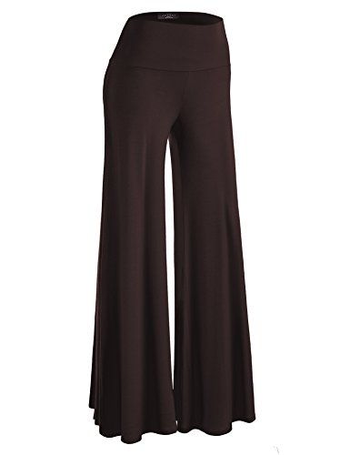 Made By Johnny WB750 Womens Chic Palazzo Lounge Pants XXXL Brown