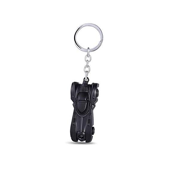 Techpro Metal Keychain Lock with Batman Muscle Car Design (Silver)