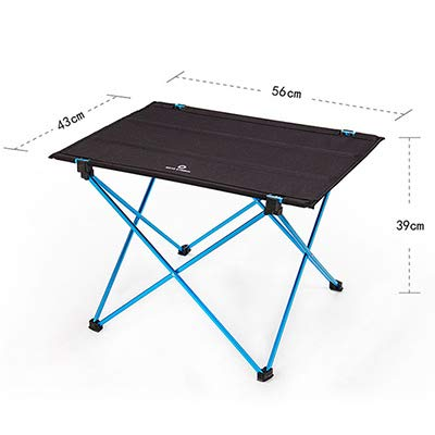 Modern Outdoor Picnic Table Camping Portable Aluminum Alloy Folding Table Waterproof Oxford Cloth Ultra Light Durable Tables Blue