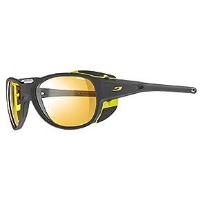 Julbo Explorer 2.0 Mountaineering Glacier Sunglasses - Zebra - Matte Gray/Yellow