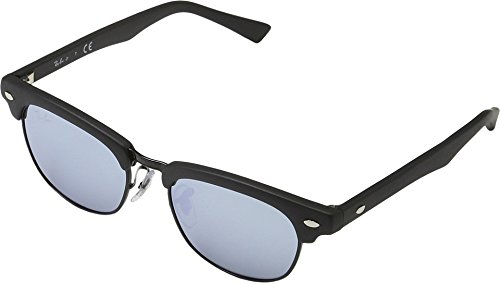 Ray-Ban Jr. Kids Clubmaster Kids Sunglasses (RJ9050) Black Matte/Grey Metal - Non-Polarized - - Clubmaster Black Ray Bans