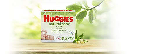 316NH0yip0L - HUGGIES Natural Care Unscented Baby Wipes, Sensitive, 6 Disposable Flip-top Packs, 288 Count