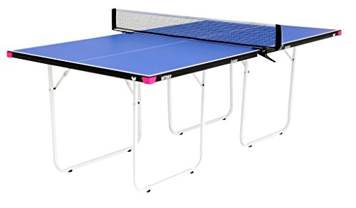 Butterfly Junior Ping Pong Table | 3/4 Size Table Tennis Table | Folding Ping Pong Table with Wheels | Larger & Easier To Play Than Mid-Size Table Tennis Tables | 3 Year Warranty | Ships Assembled.