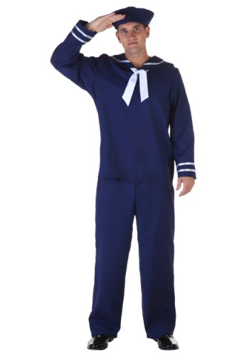 Fun Costumes mens Plus Size Blue Sailor Costume 2X (Sailor Plus Size Costume)
