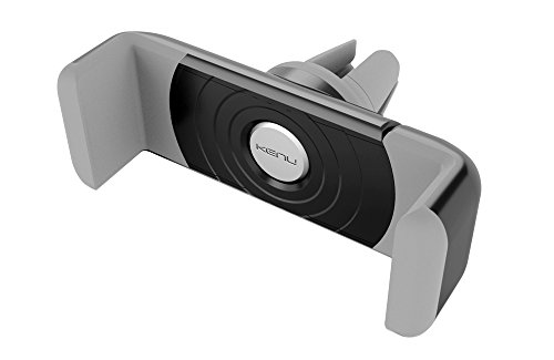 Kenu Airframe Lüftungs Halterung für Smartphones (min. 55mm / max. 73mm Breite) - schwarz/grau [360° Drehbar | Gummierte Haltebacken | Patentierte Technologie | Standfunktion] - AF1-KK-AP