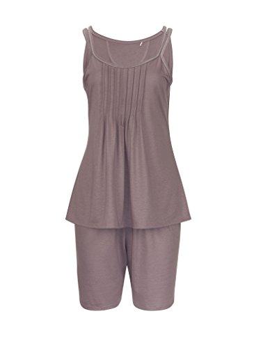 RÖSCH Femmes Pyjama 1163653 Wellness loungewear taupe 50