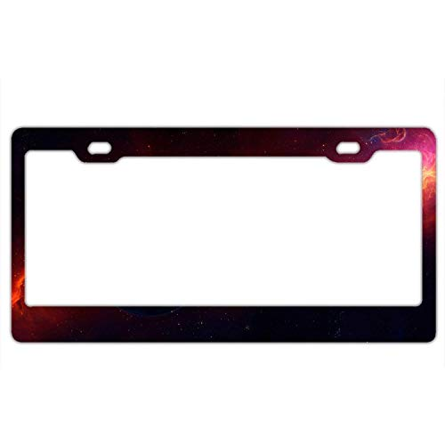 YEX Abstract Cosmos Planets License Plate Frame Car Tag Frame Auto License Plate Holder 12
