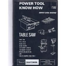 Power Tool Know How - Table Saw, Band Saw, Drill Press, Wood Lathe, Wood Shaper, Stationary Sanders, Stationary Planers, Motorized Miter Box, How to Sharpen Your Tools ( Sears Roebuck & Co)