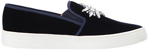 Badgley Mischka Women's Barre Sneaker Navy Velvet Q26t4Cg