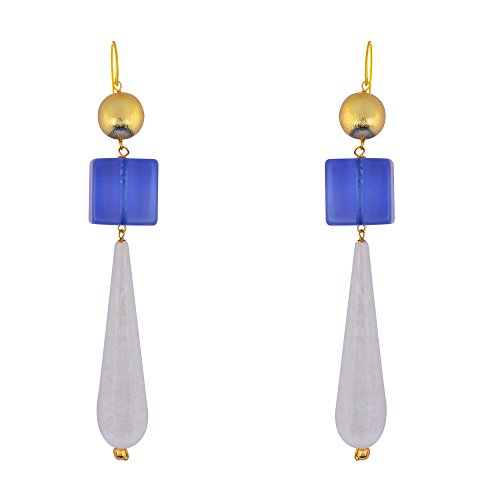 Shaze Gold Colored Azure Drops Earrings for Women by shaze