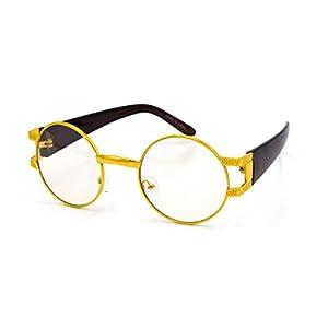 Circle Jamaica Metal Fashion Clear Glasses