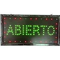 Letrero cartel Panel LED iluminacion negocio abierto open