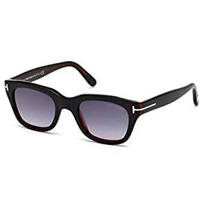 Tom Ford Sunglasses - Snowdon / Frame: Shiny Black with Brown Lens: Grey Gradient