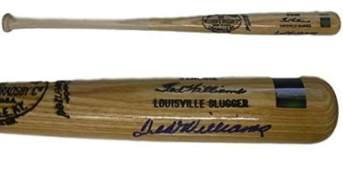 Ted Williams Autographed Boston Red Sox Louisville Slugger Blonde Baseball Bat Steiner ()