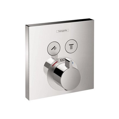 hansgrohe ShowerSelect Square Thermostatic 2-Function Trim by Hansgrohe