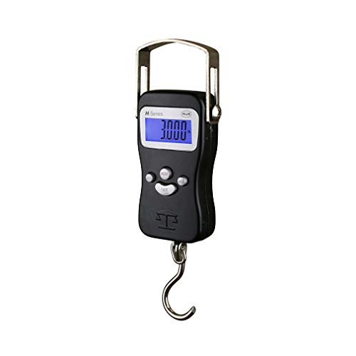 American Weigh Scales H Series Digital Multifunction Electronic Hanging Scale, Black, 110lb x 0.05 lb (H-110)