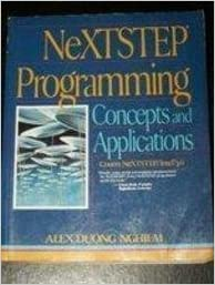 Book NeXTSTEP Programming Primer: Writing NeXTSTEP Applications by Alex D. Nghiem (1993-05-24)