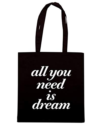 Speed Shirt Borsa Shopper Nera CIT0024 ALL YOU NEED IS DREAM