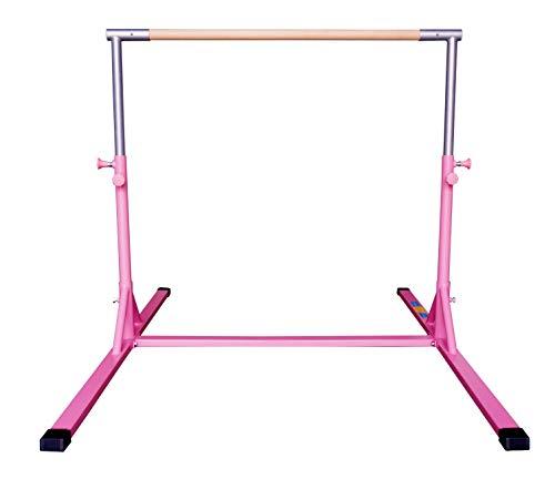 Z-Athletic Elite Gymnastics Bar Adjustable Height for Kips, Training (Pink)