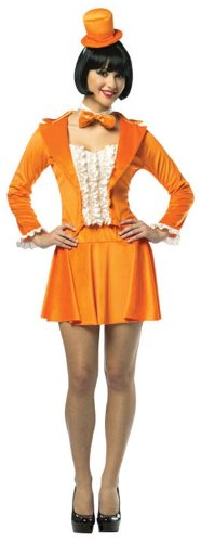 [Rasta Imposta Dumb And Dumber Lloyd Skirt Suit, Orange, Adult 4-10] (Adult Orange Tuxedo Costumes)