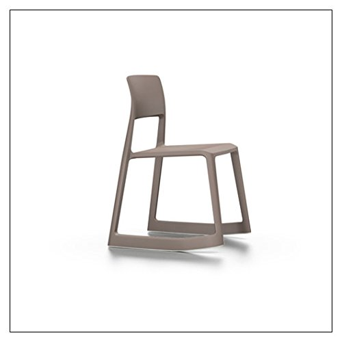 (Vitra Tip Ton Forward-Tilting, Stackable Chair, Color = Earth Grey)