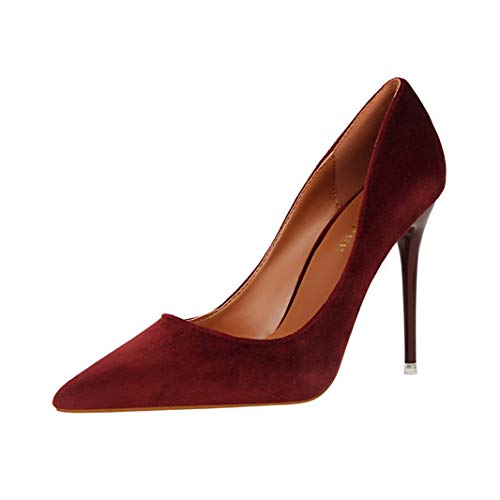 Drew Toby Women Pumps Fashion Simple Shallow Mouth Pointed Toe Suede Sexy High Heels