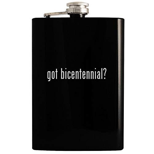got bicentennial? - Black 8oz Hip Drinking Alcohol Flask (Us Bicentennial Plate)