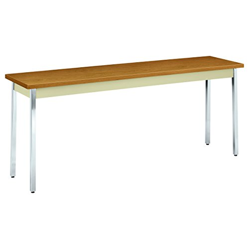 HON Utility Table with Putty and Chrome Leg Finish, 72'' x 18'', Harvest by HON