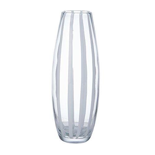 Mikasa Artisan Series White Ribbon Vase, (Mikasa Onyx)