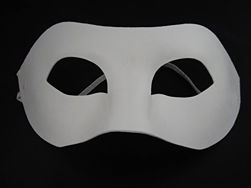 1 XHalf Face Mask, Paint Mask Decorate Plain Masks. Venetian ...