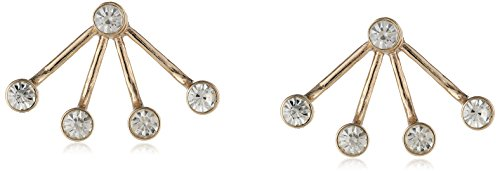Sam Edelman Crystal Gold Front and Back Floater Earrings Jacket