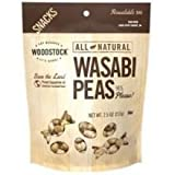Woodstock Farms - Wasabi Peas Natural 8-Ounce Bags (Pack of 8)